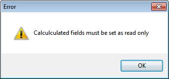 Calculated field error in AppGini.